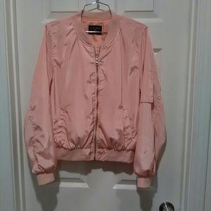Pink Bomber style jacket Sz L
